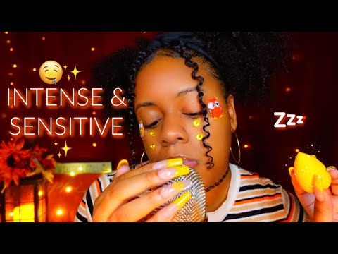ASMR ✨MOUTH SOUNDS AT 100% INTENSITY & SENSITIVITY 🔥🤤 + PERSONAL ATTENTION ♡✨ (YOU WILL MELT!😴)