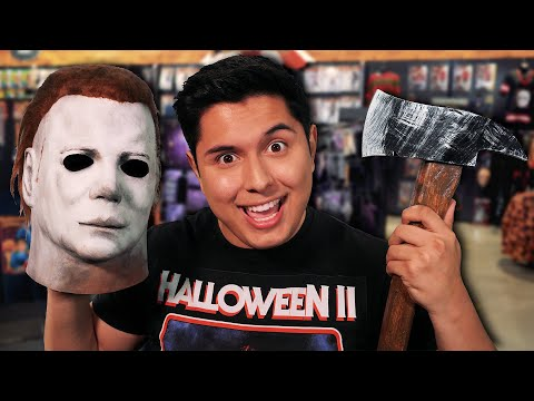 ASMR   Halloween Store Roleplay (Costumes, Masks, Weapons, &  MORE!)