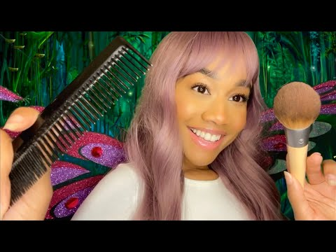 ASMR Friendly Fairy Role-play ~ Giving You a Makeover 🧚🏽♀️✨